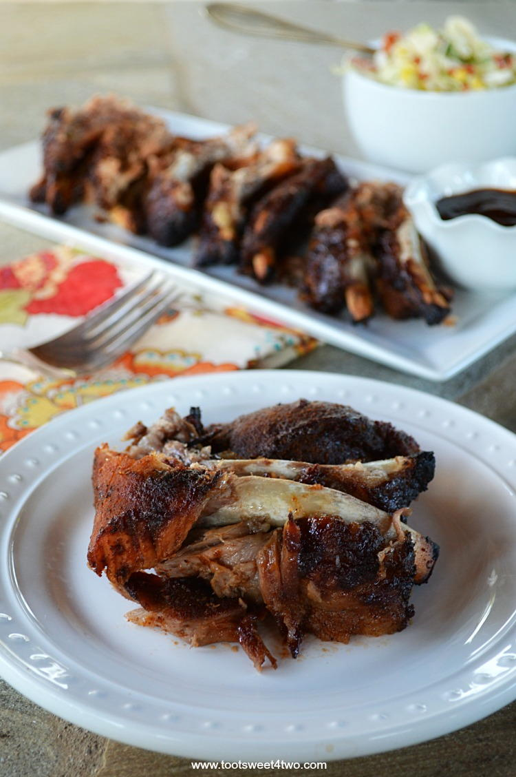 Rubbed Roasted And Grilled Barbecue Pork Ribs