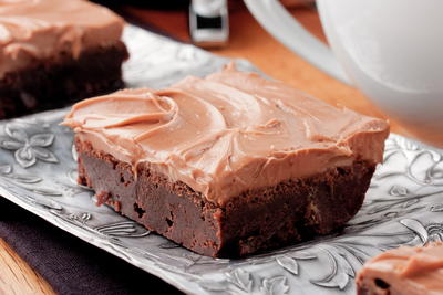 Mocha-Topped Brownies