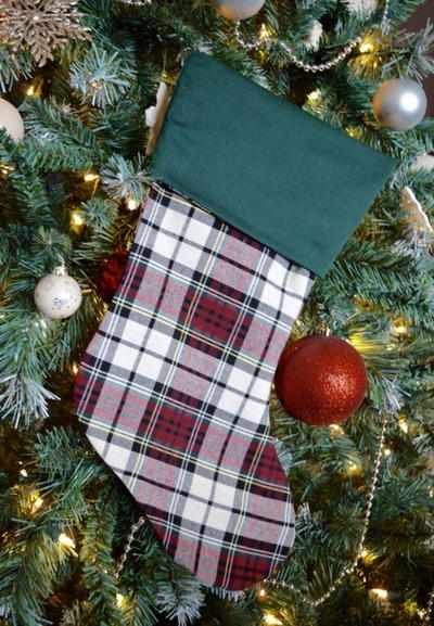 Plaid Christmas Stocking Pattern