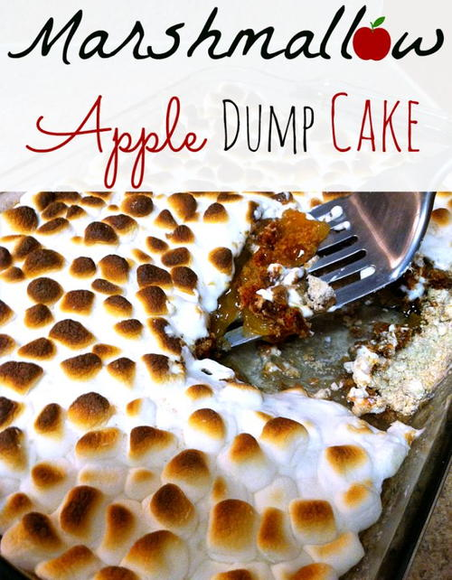 Marshmallow Apple Pie Dump Cake