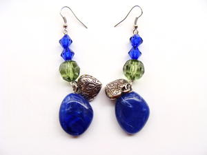 Mystical Sapphire Stone DIY Earrings