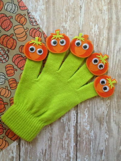 Budget-Friendly Pumpkin DIY Finger Puppets