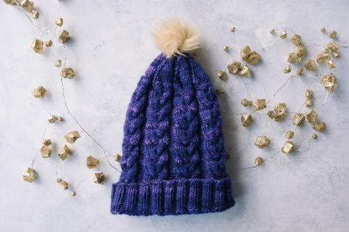 Purple Haze Knit Hat Pattern