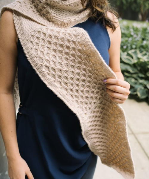 Anthophila Knit Scarf Pattern