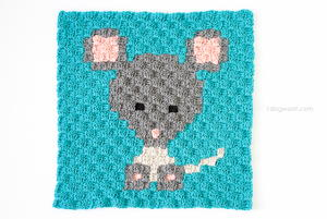Zoodiacs Mouse Afghan Square