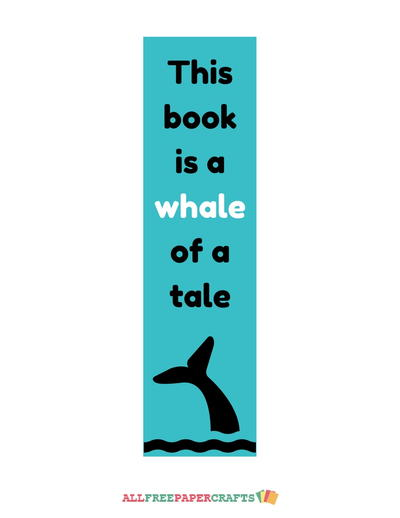 Allfreepapercrafts Com: Whale Of A Tale Printable Bookmarks