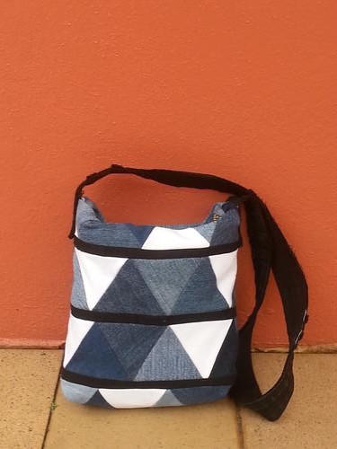 Upcycled Denim Triangle Bag