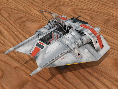 3D Snowspeeder Star Wars Paper Craft