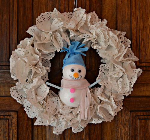 Welcome Winter Snowman DIY Wreath