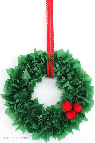 Simple Tissue Paper Wreath