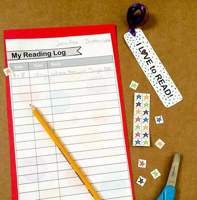 Printable Bookmark and Reading Log