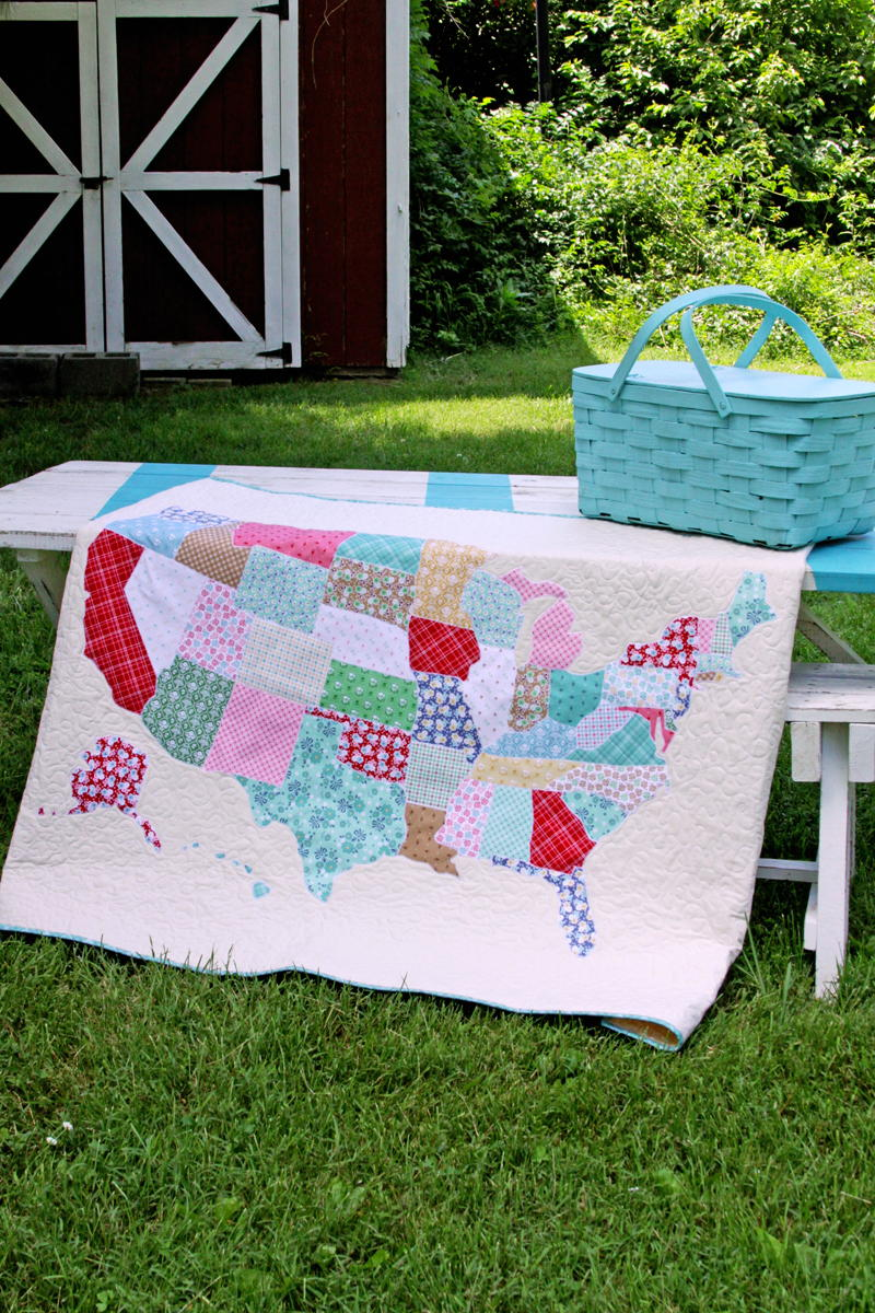 State Map Quilt Tutorial FaveQuiltscom - Us state map quilt