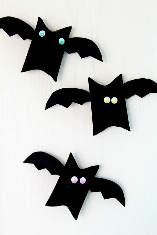 Halloween Bat Toilet Paper Roll Craft
