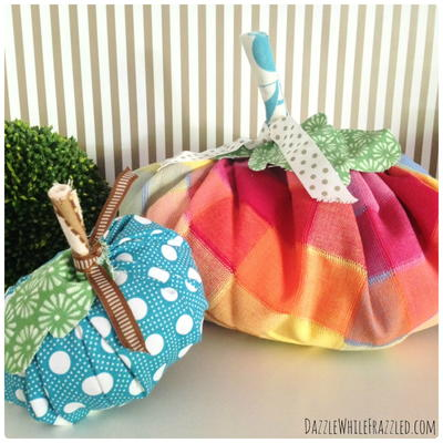 Fun Fall Fabric Pumpkins