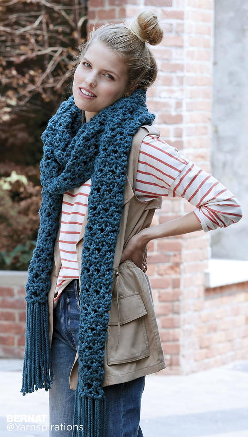 Down the Moonlit Path Super Scarf