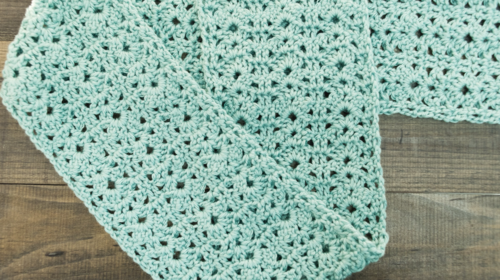 How to Crochet a Shell Stitch Scarf