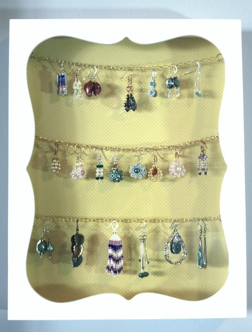 DIY Earring Jewelry Organizer