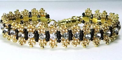 Bead and Rhinestone Bracelet