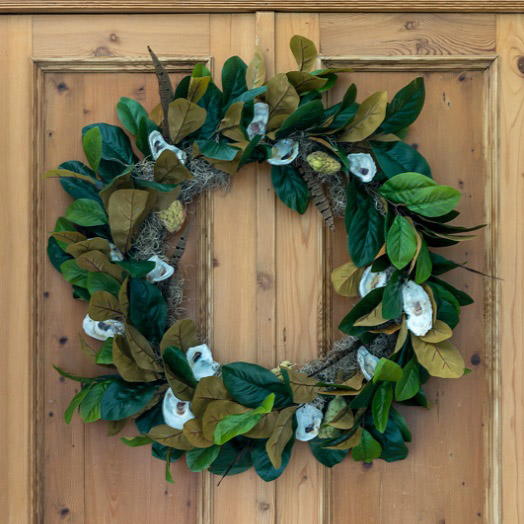 Magnolia and Oyster Shell Fall Wreath FaveCrafts