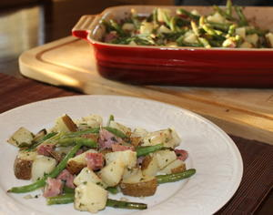 Roasted Potato and Ham Casserole