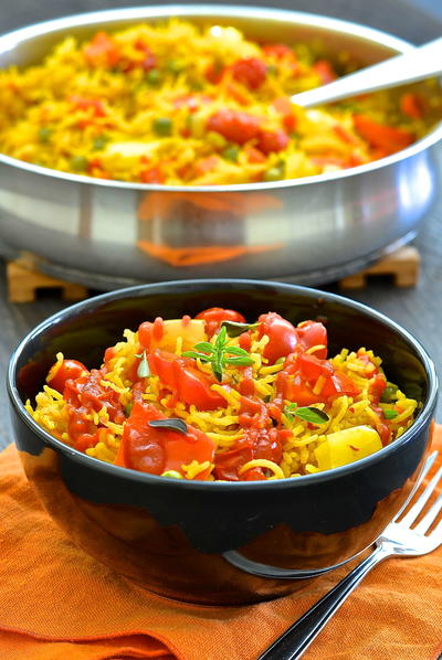 One-Pot Spicy Vegetable Rice
