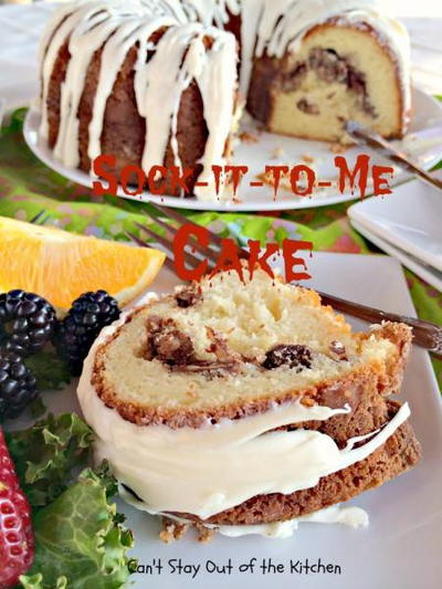 Simple Southern Sock It To Me Cake