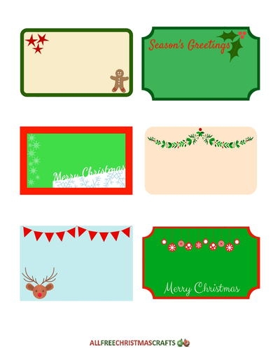Assortment of Free Printable Labels for Christmas