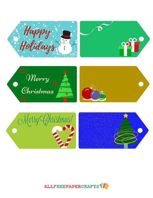 Joyful Printable Christmas Tags