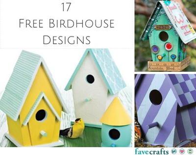 Christmas Birdhouses Crafts.17 Free Birdhouse Designs Favecrafts Com