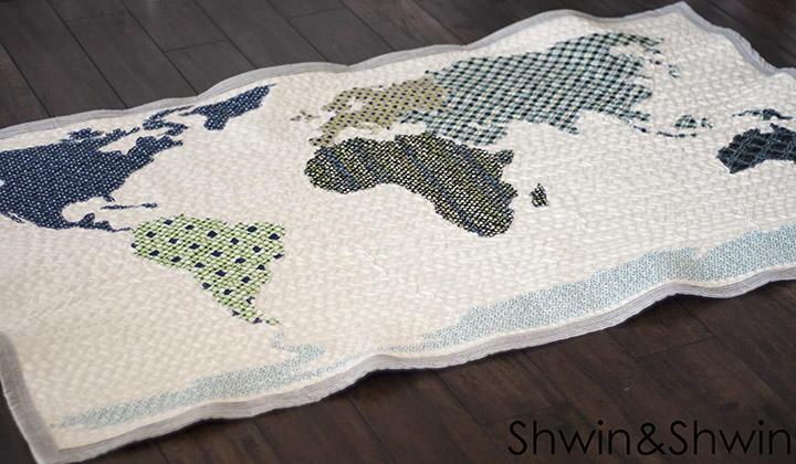 World Map Quilt Pattern Favequilts Com