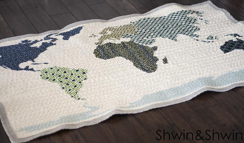 World Map Quilt Pattern.World Map Quilt Pattern Favequilts Com