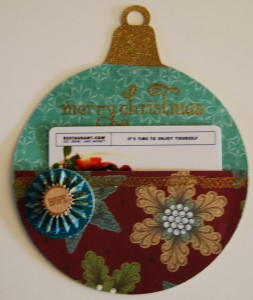 Christmas Tree Ornament Gift Card Holder