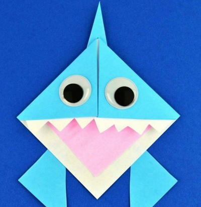 JAW-some Origami Shark Bookmark