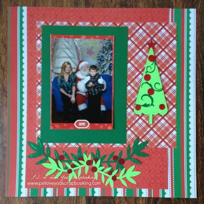 Boughs of Holly Christmas Scrapbook Layout