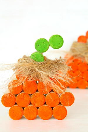 DIY Wine Cork Pumpkin Tutorial