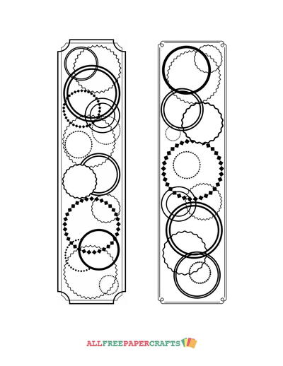 Allfreepapercrafts Com: Continuous Circles Coloring Page Bookmarks