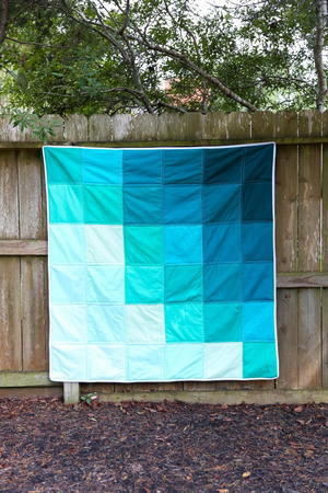 Ombre Layer Cake Baby Quilt