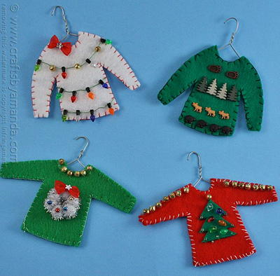 Ugly Sweater Christmas Ornament Craft