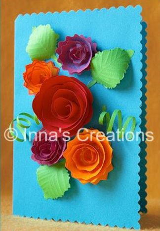 How to Make Spiral Paper Flowers for Cards