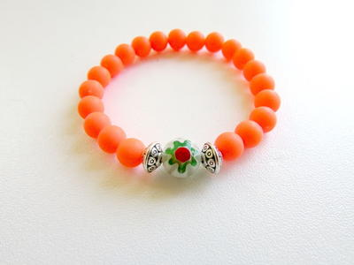 Colorful Elastic Beaded Bracelet