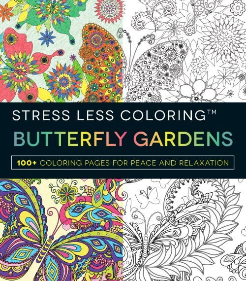 Stress Less Coloring Butterfly Gardens Review