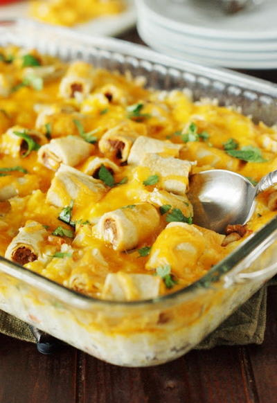 Cheesy Taco Rice Bake