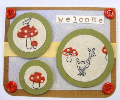 Woodland Welcome Homemade Card