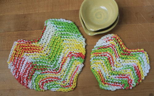 Sister Hearts Potholder Pattern