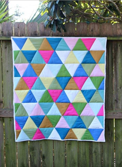 One Day Triangle Quilt Tutorial Favequilts Com