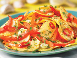 Calabrese-Style Fried Potatoes with Peppers (Patate Fritte con Peperoni)