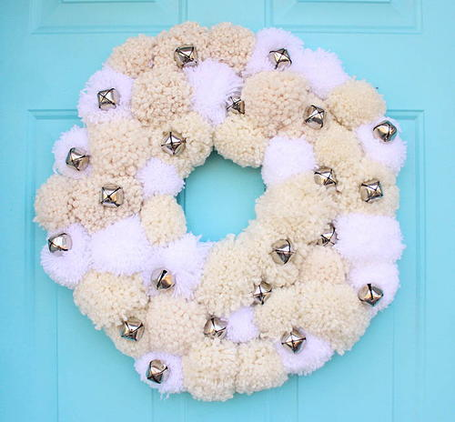 Pottery Barn-Inspired Silver Bells Wreath