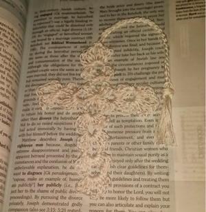 Graceful Christmas Crochet Cross Bookmark