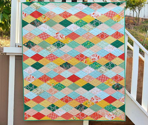 Kissing Diamonds Quilt Tutorial