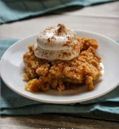 Autumn Harvest Pumpkin Dump Cake